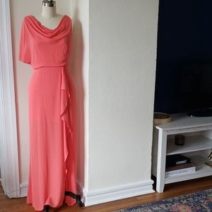 Coral Crepe Gown
